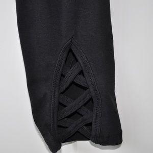 Soma Signature Wknd Blk cotton stretch legging S